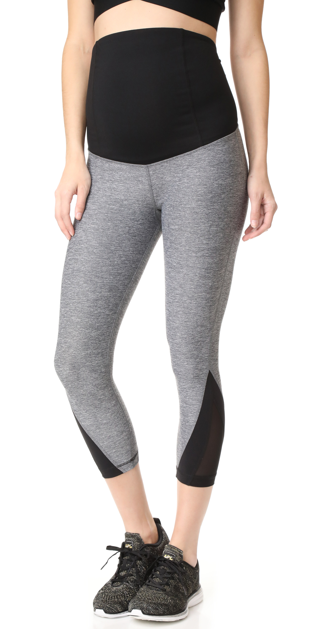Active Mesh Detail Capri with Crossover Panels Ingrid  Isabel