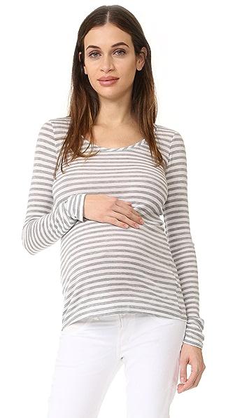Ingrid & Isabel Полосатая футболка для беременных с длинными рукавами