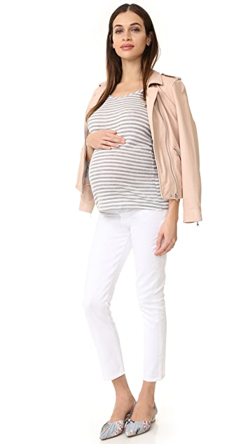 Ingrid & Isabel Stripe Long Sleeve Maternity Tee