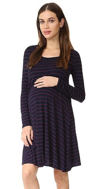 Ingrid & Isabel Long Sleeve Maternity Trapeze Dress