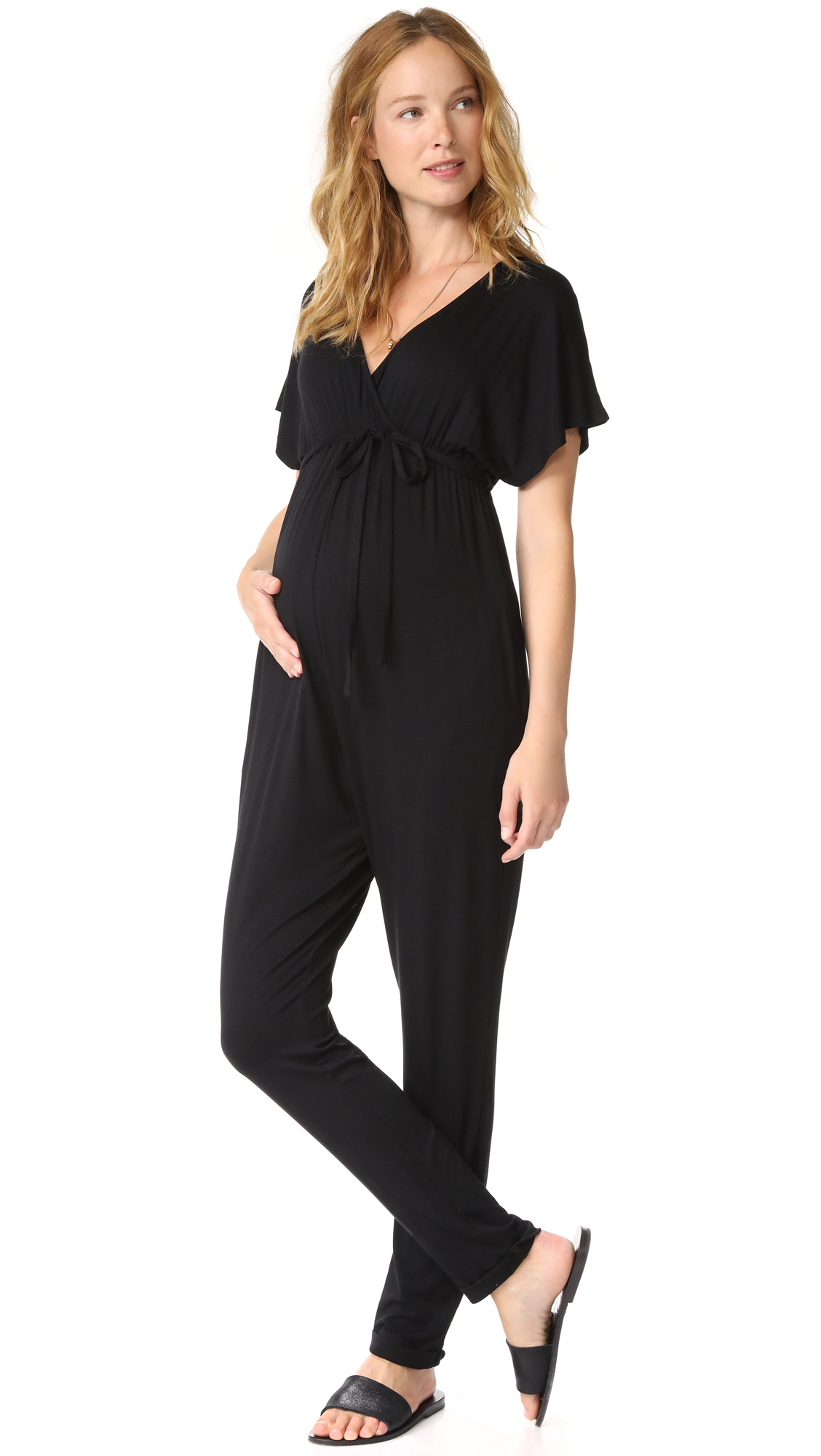Ingrid & Isabel Maternity Jumpsuit - Black