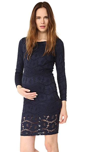 Ingrid & Isabel Boat Neck Lace Maternity Dress at Shopbop