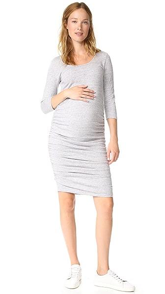 Ingrid & Isabel 3/4 Sleeve Shirred Maternity Dress at Shopbop