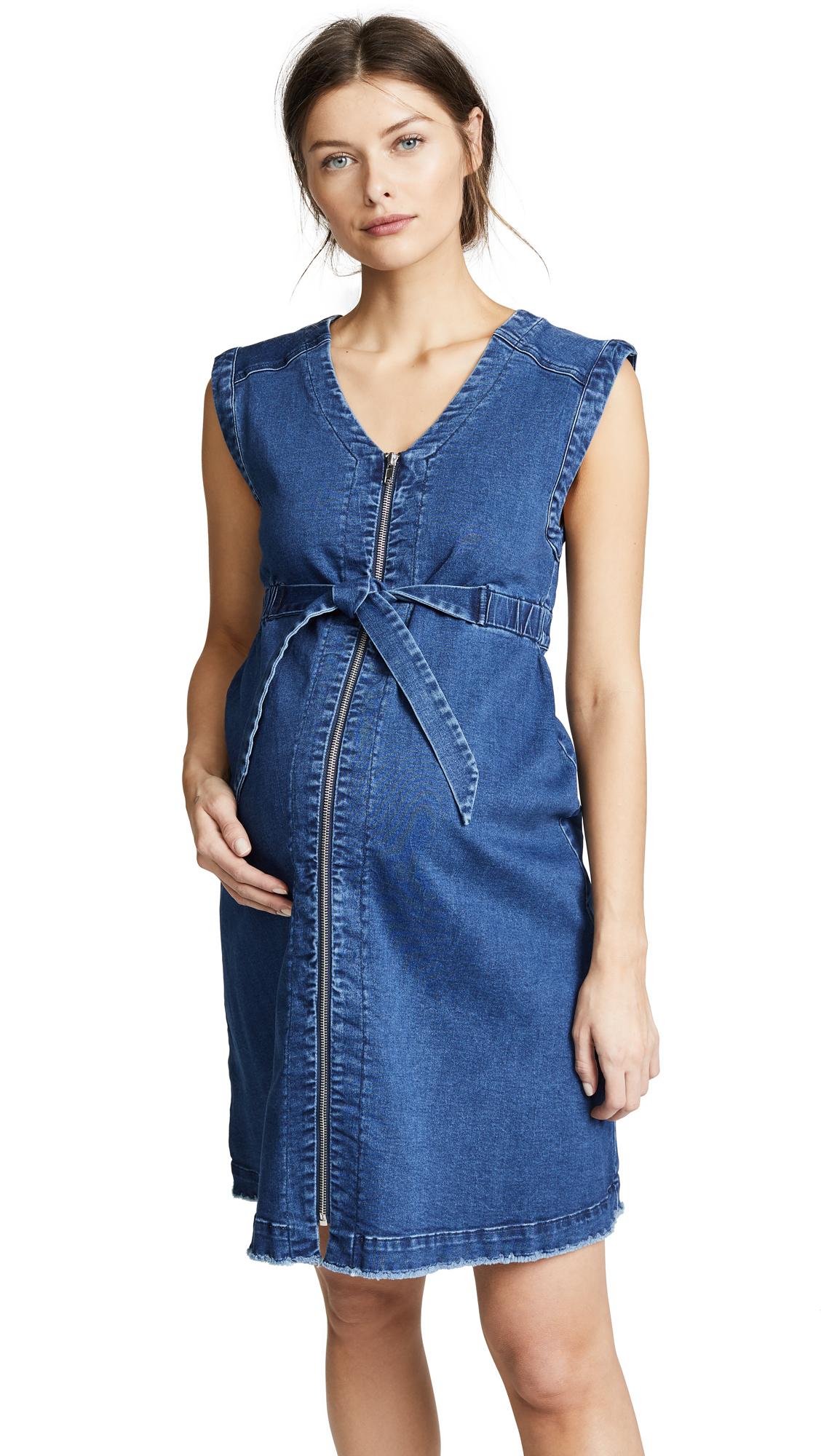 INGRID & ISABEL ZIP FRONT DENIM DRESS
