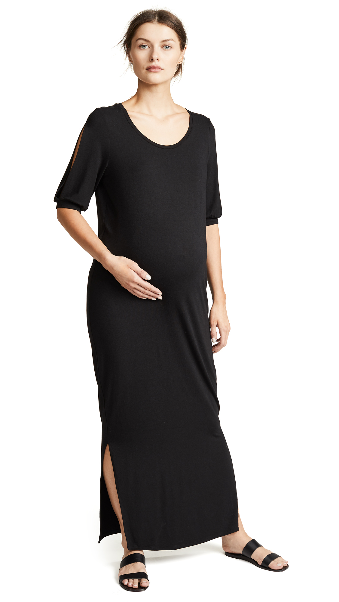 Ingrid & Isabel Split Sleeve Maternity Maxi Dress