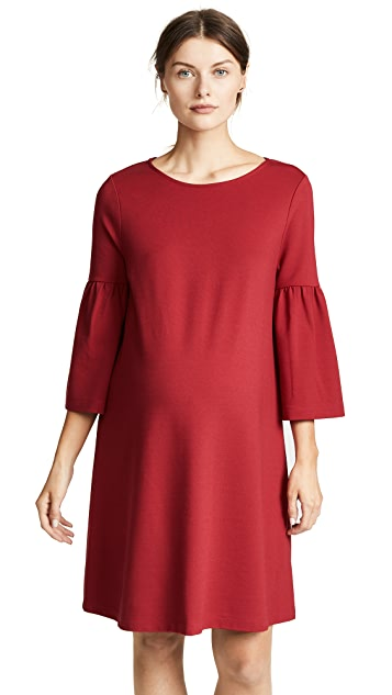 Ingrid & Isabel Ponte Bell Sleeve Maternity Dress