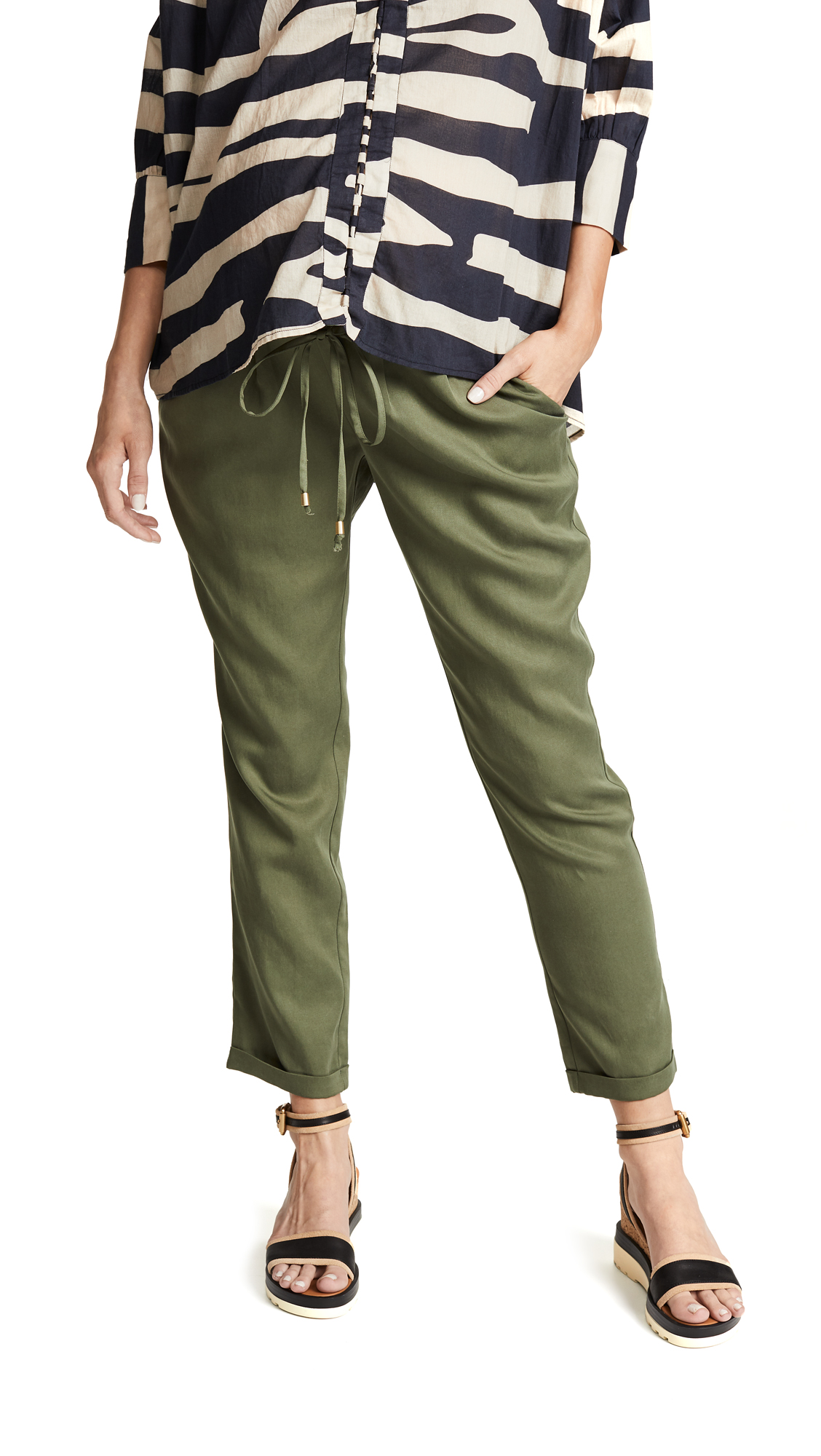 Tapered Ankle Maternity Pants