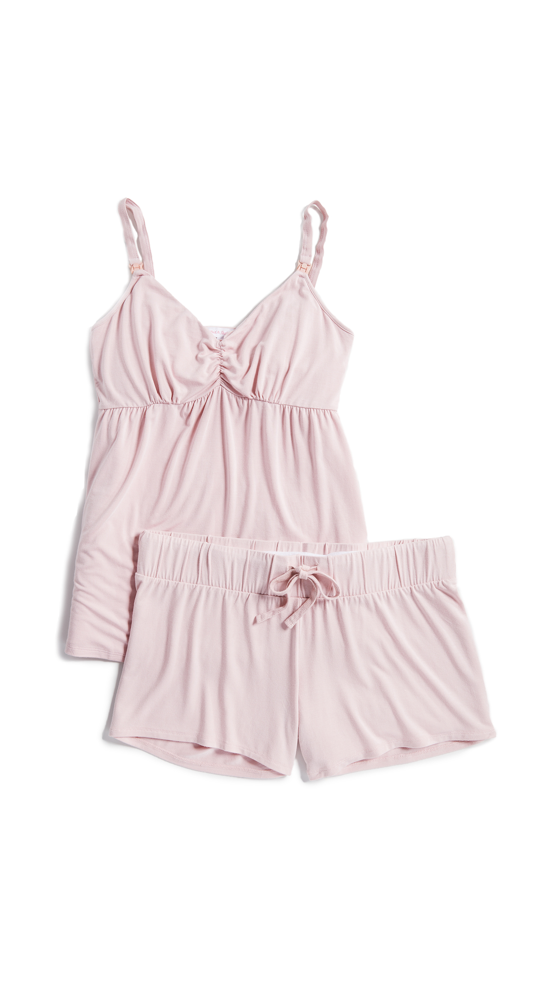 INGRID & ISABEL Maternity Pajama Set in Blush