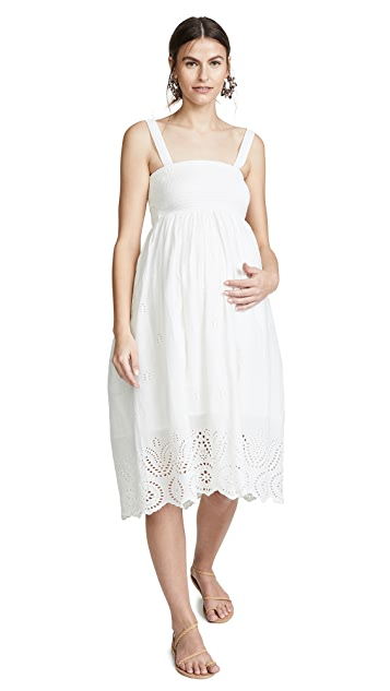 Ingrid & Isabel Embroidered Scallop Hem Dress