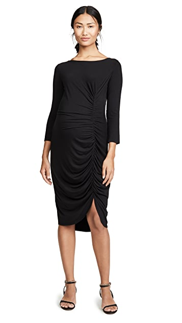 Ingrid & Isabel 3/4 Sleeve Front Shirred Dress