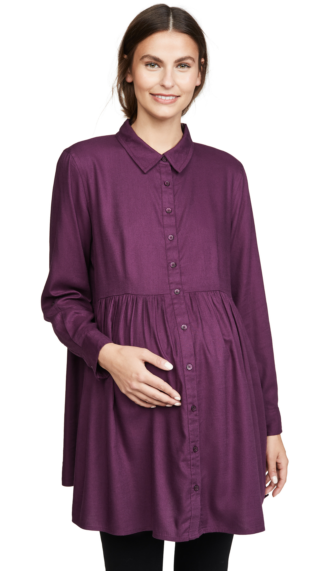 Buy Ingrid & Isabel online - photo of Ingrid & Isabel Peplum Button Down Shirt