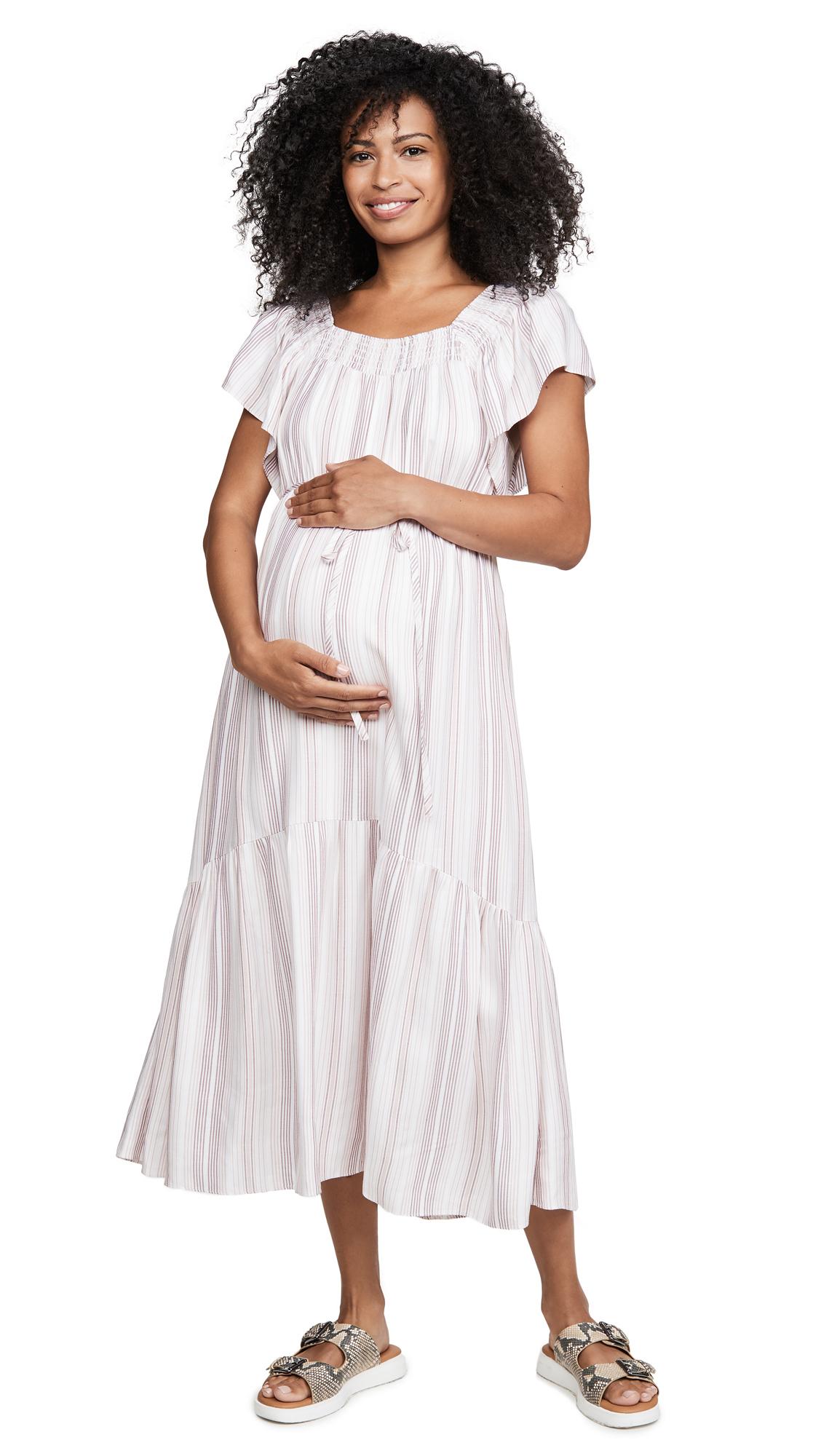 Ingrid & Isabel Flutter Sleeve Maternity Dress - 30% Off Sale