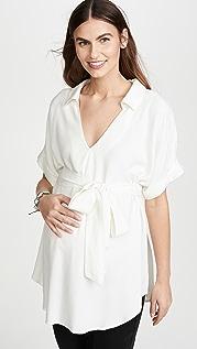 Ingrid & Isabel 套头设计绑带腰部孕妇装衬衫