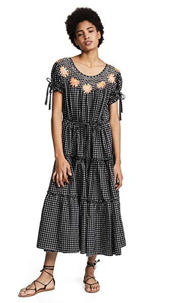 Innika Choo Check Smock Dress