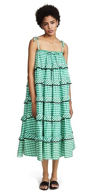 Innika Choo Gingham Frill Dress
