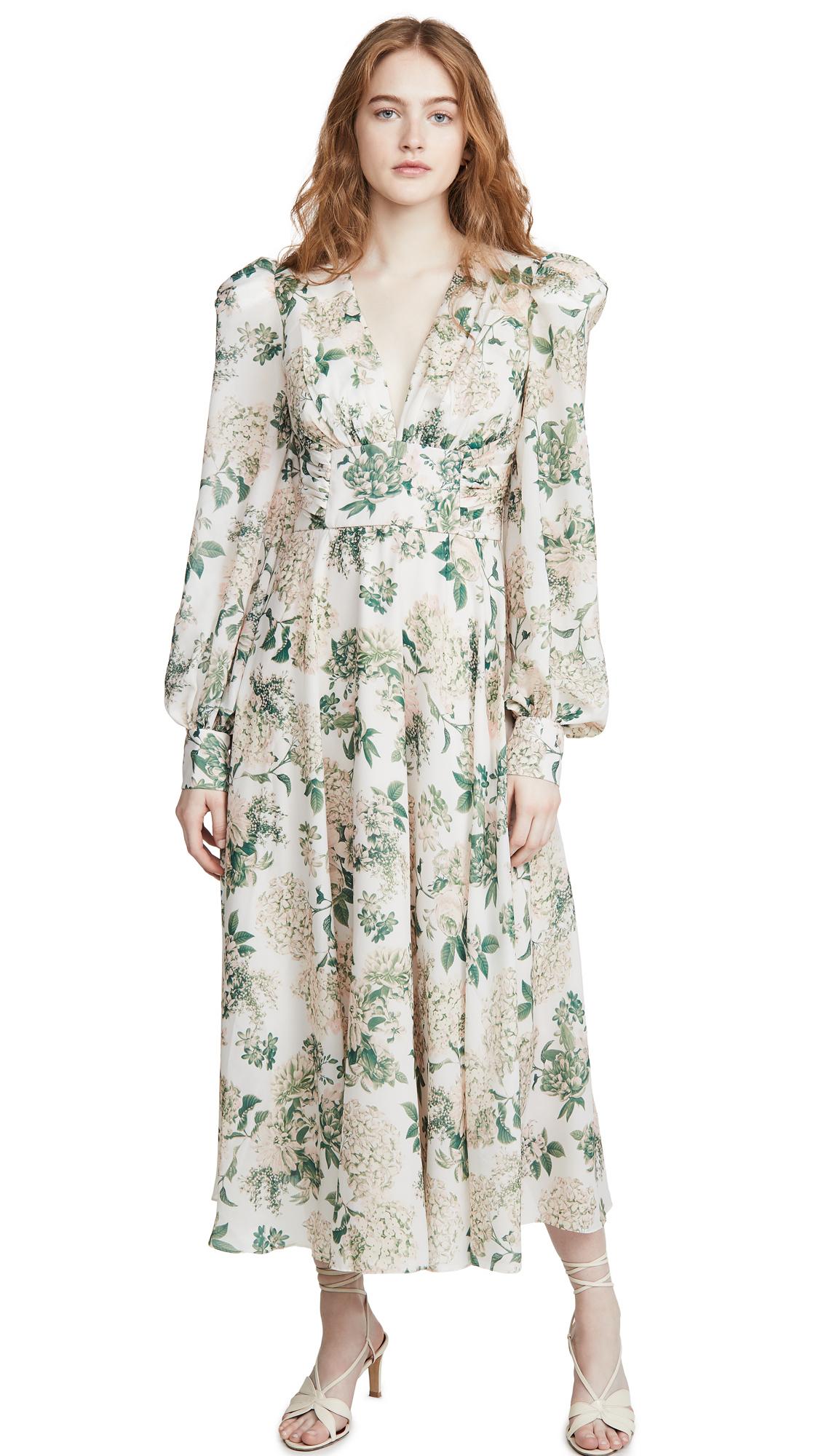 IORANE Vintage Garden Midi Dress - 40% Off Sale