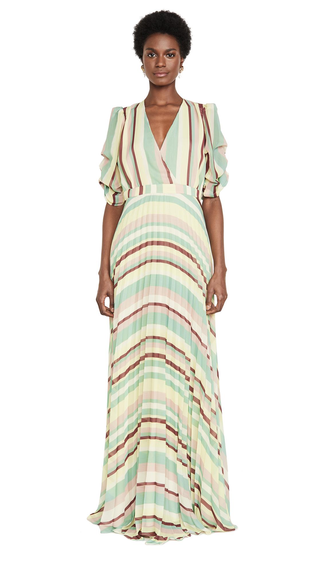 IORANE Striped Pleated Dress - 40% Off Sale