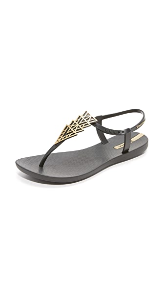 Ipanema Deco Sandals - Black/Gold