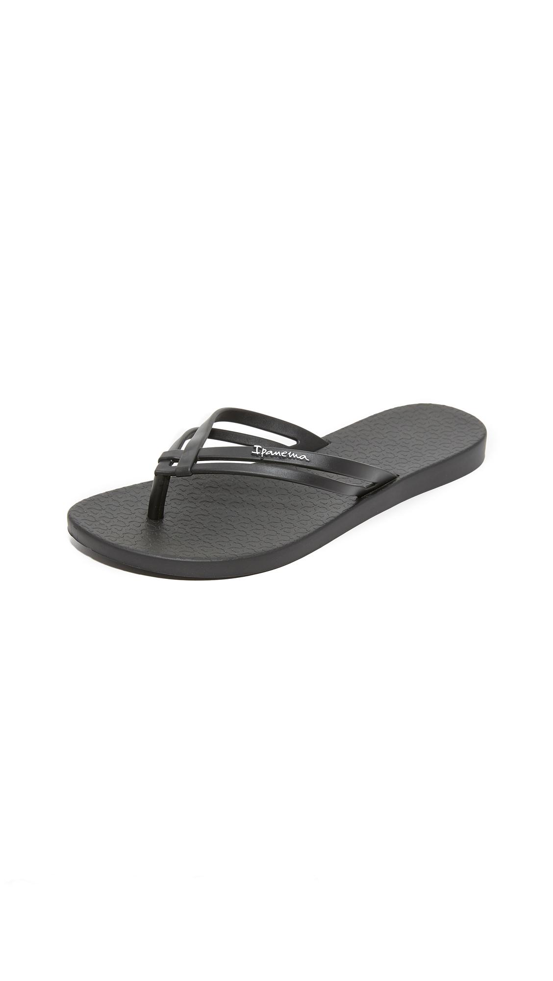 Ipanema Hashtag Flip Flops - Black