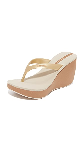 Ipanema Tango II Wedge Sandals - Beige/Gold