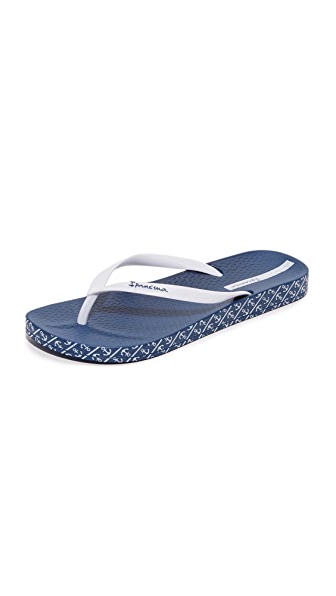 Ipanema Ana Soft Flip Flops - Blue/White