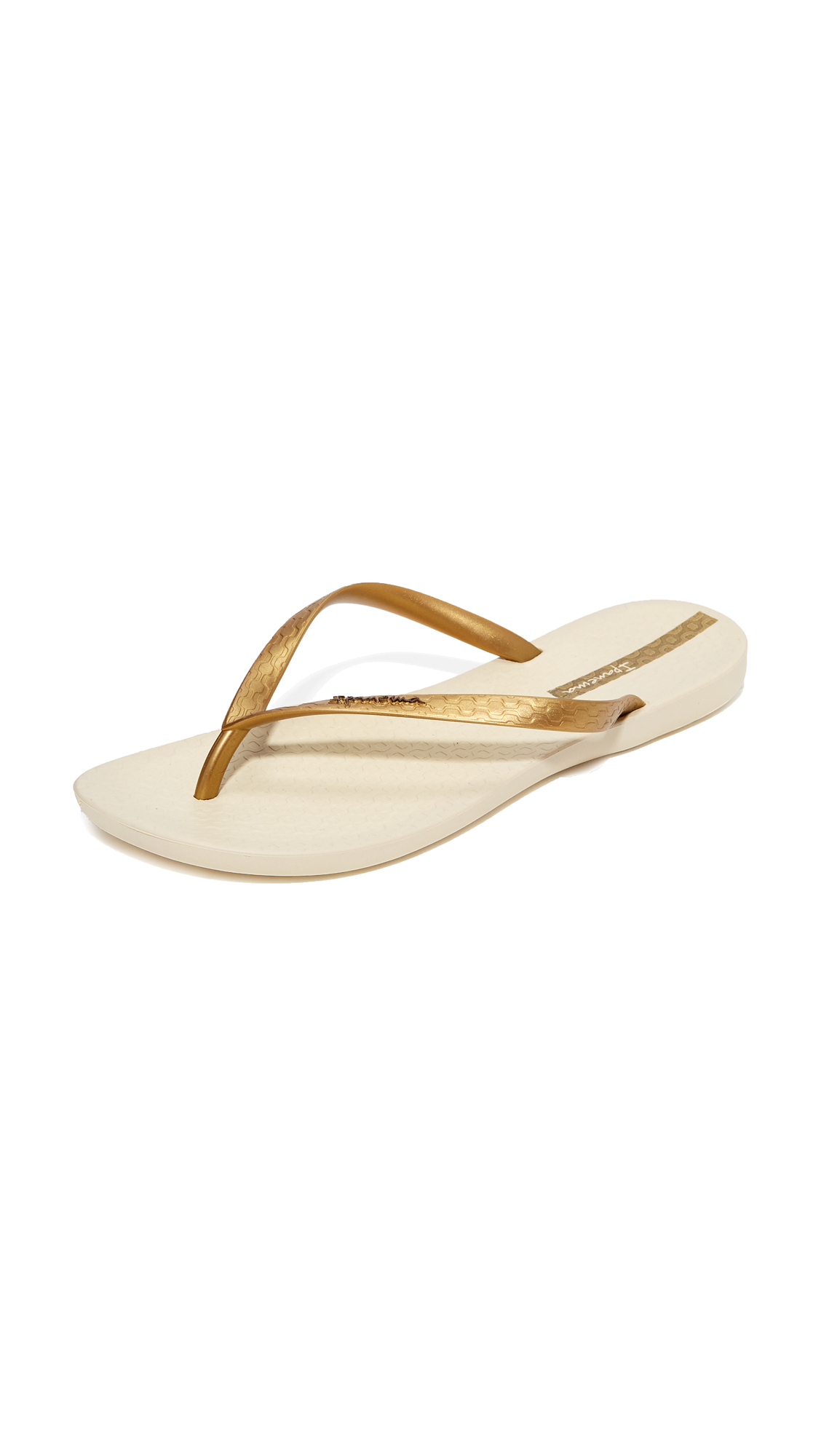 Ipanema Wave Essence Flip Flops - Beige/Gold