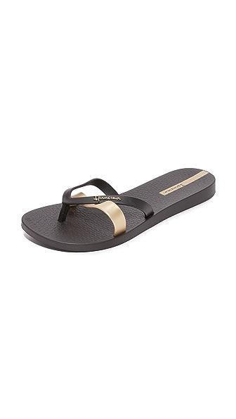 Ipanema Kirei Flip Flops - Black/Gold