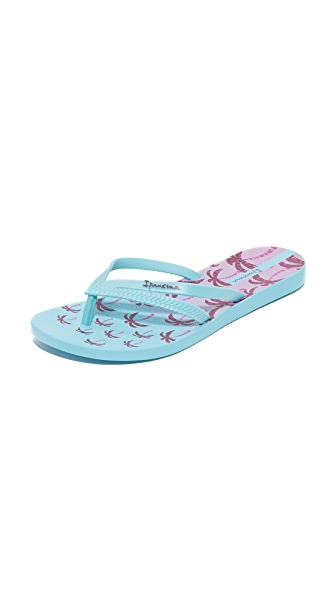 Ipanema Duet Palm Flip Flops - Blue