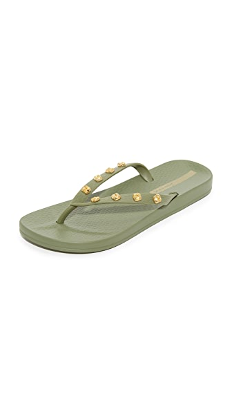 Ipanema Premium Love Flip Flops - Green