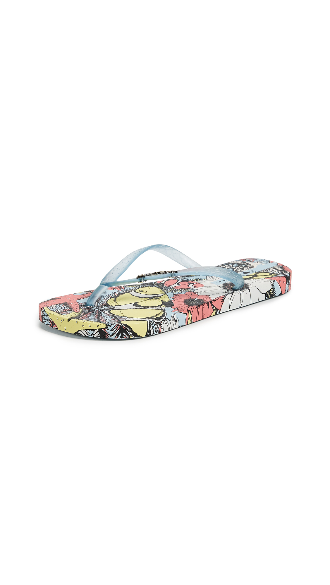 Ipanema Beauty Print Flip Flops - Blue/White/Pink