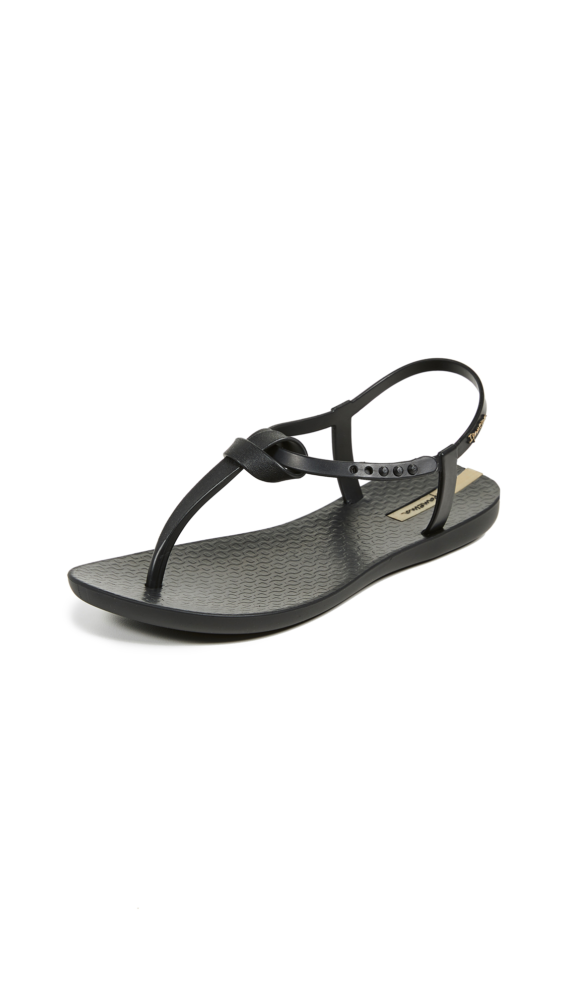 Ipanema Ellie Knot T-Strap Sandals - Black/Black