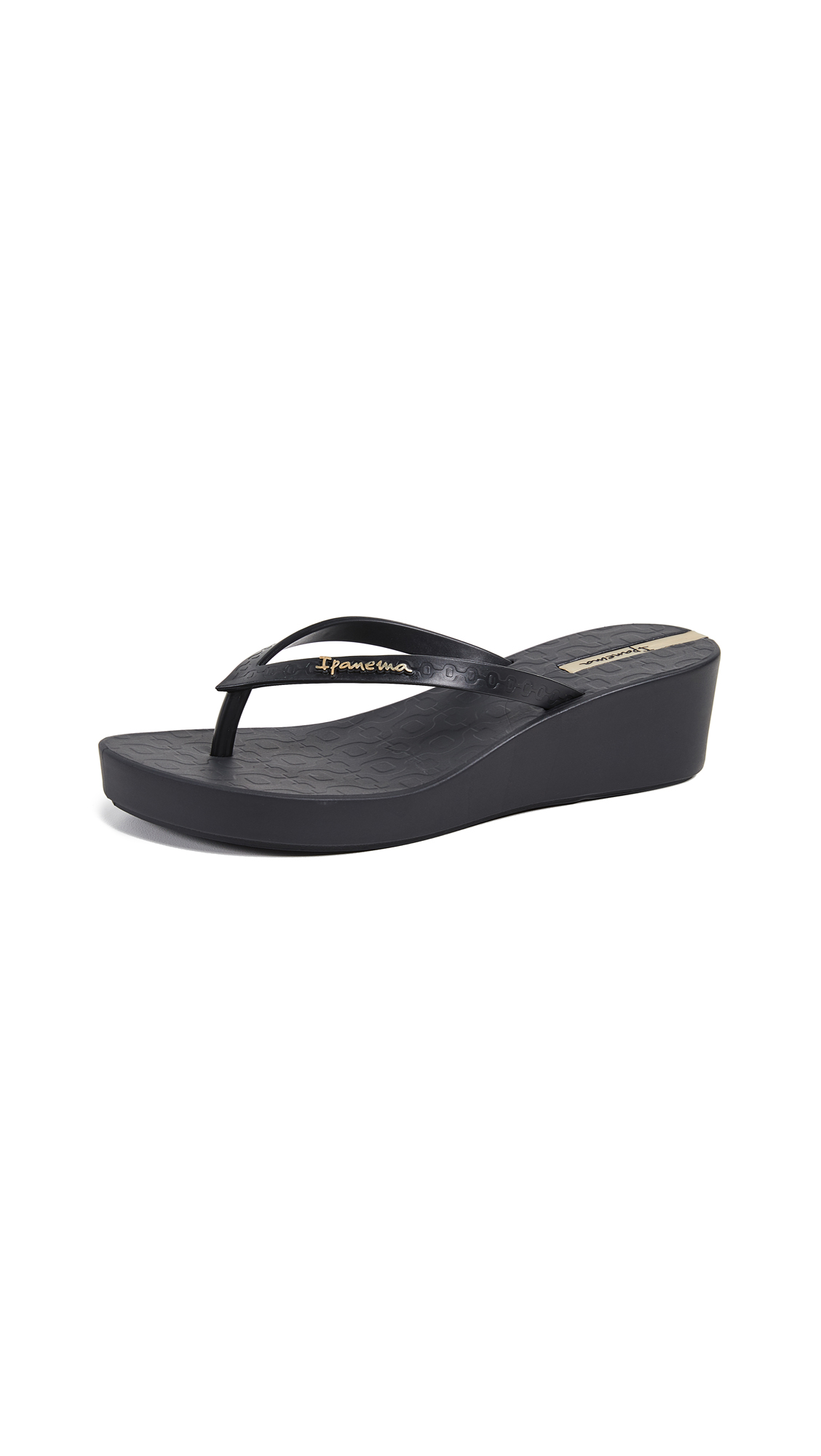 Ipanema Daisy Wedge Flip Flops - Black