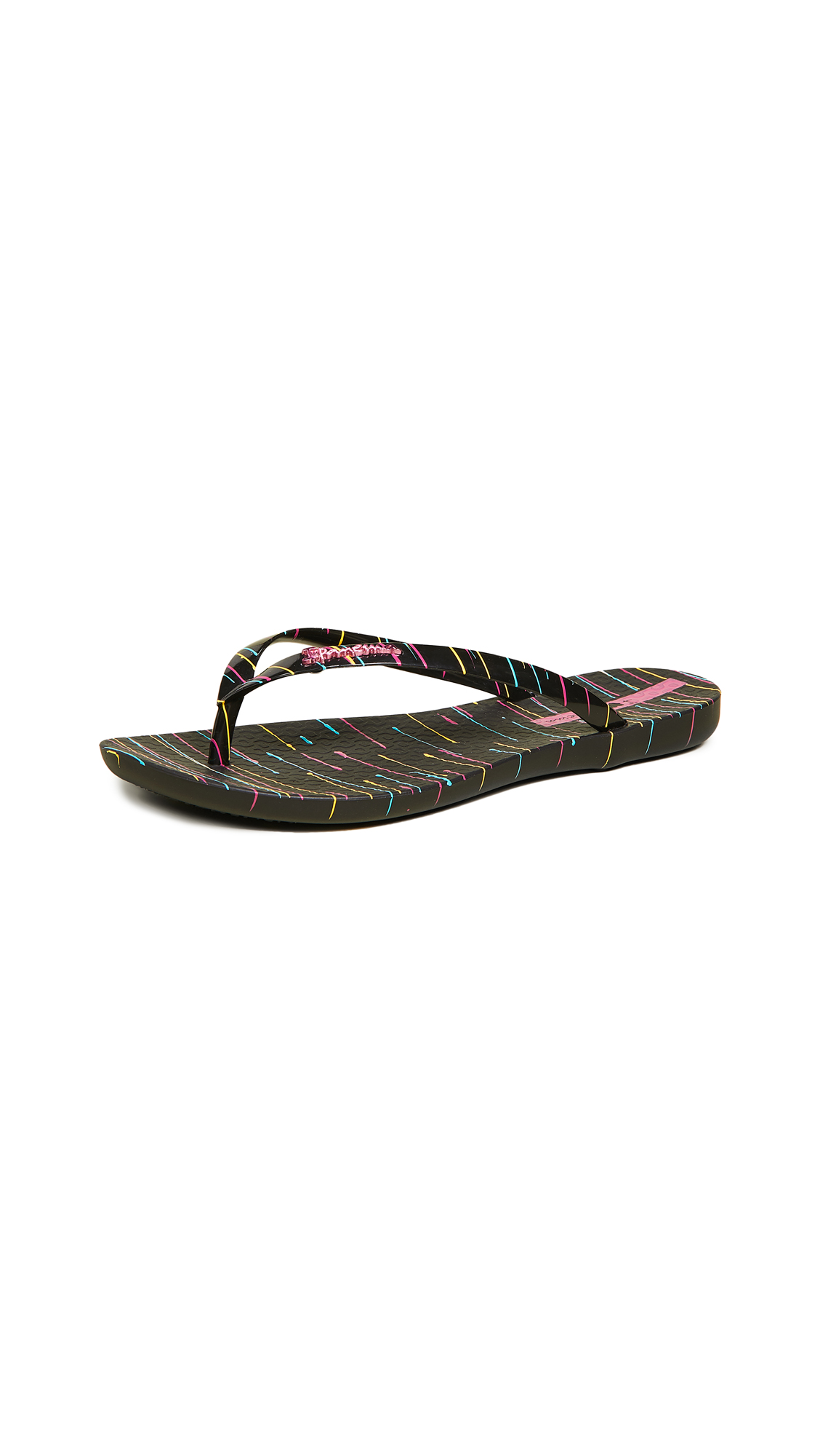 Ipanema Wave Art Flip Flops - Black