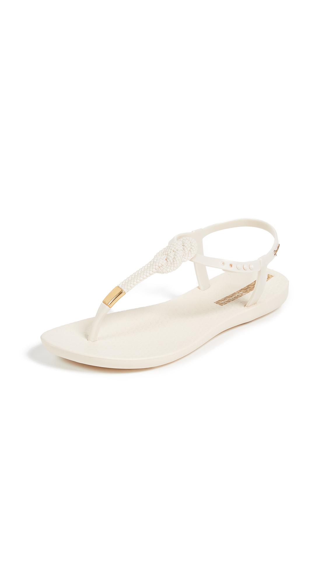 Ipanema Mara Knot T-Strap Sandals - Beige
