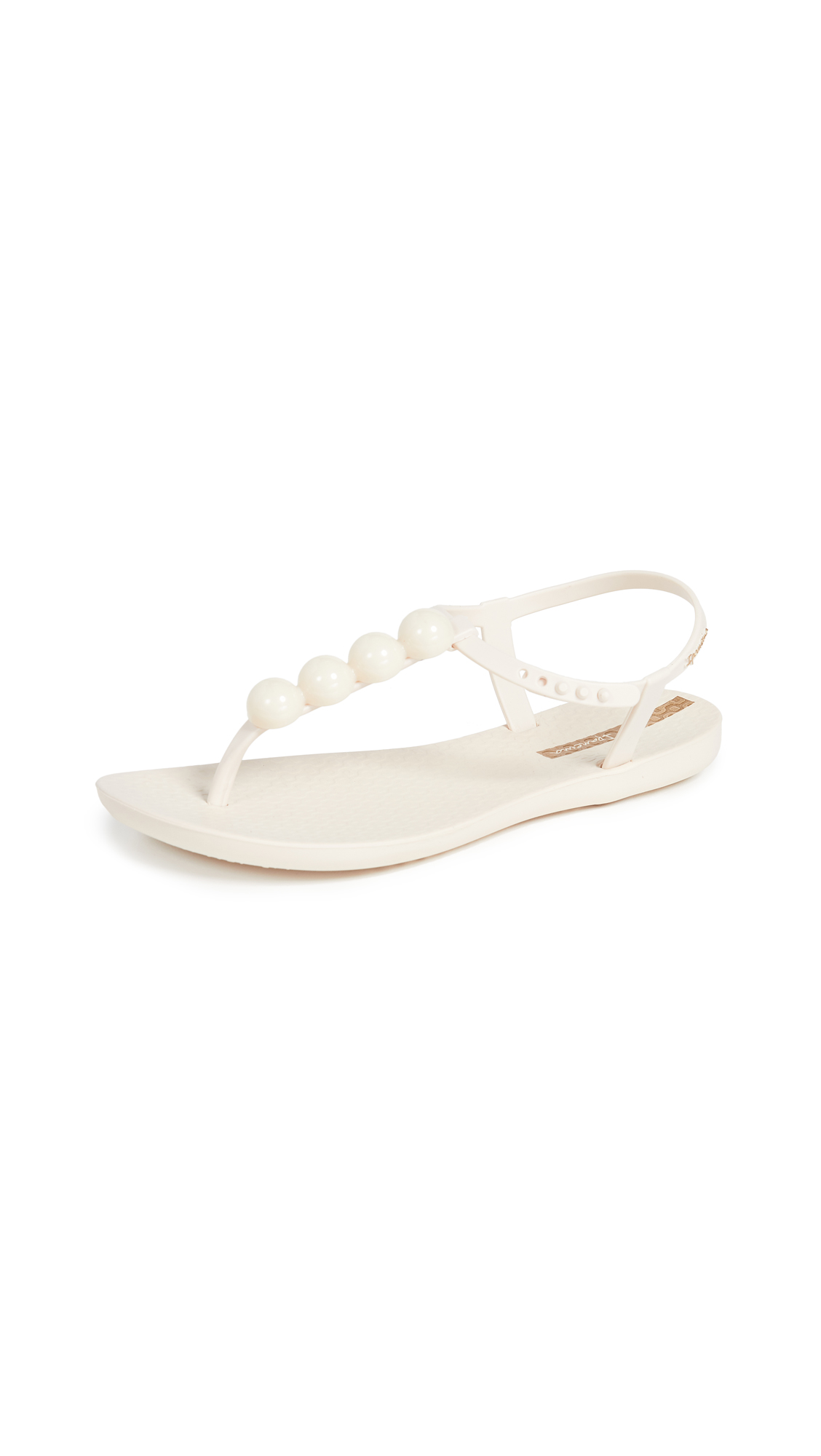 Ipanema Pearl T-Strap Sandals - Beige