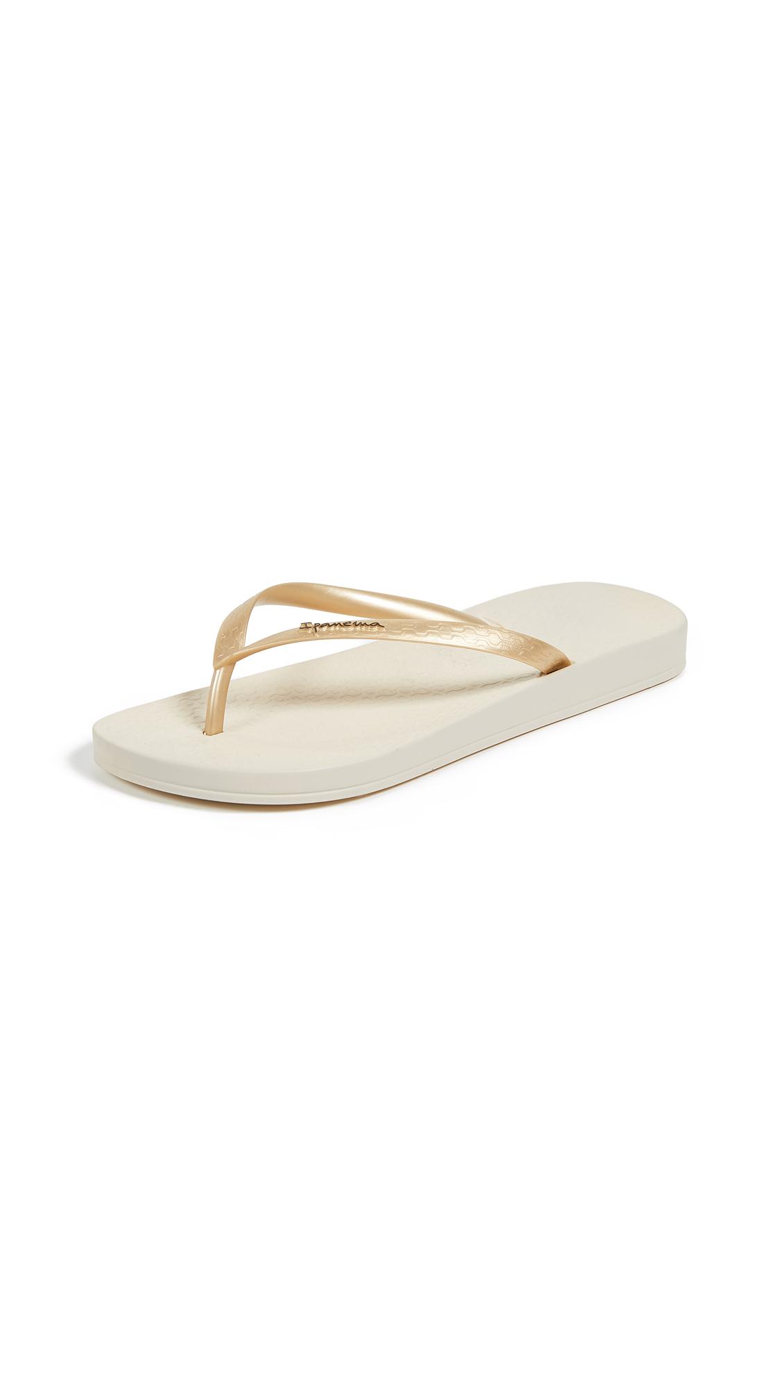 Ipanema Ana Tan Flip Flops - Beige/Gold