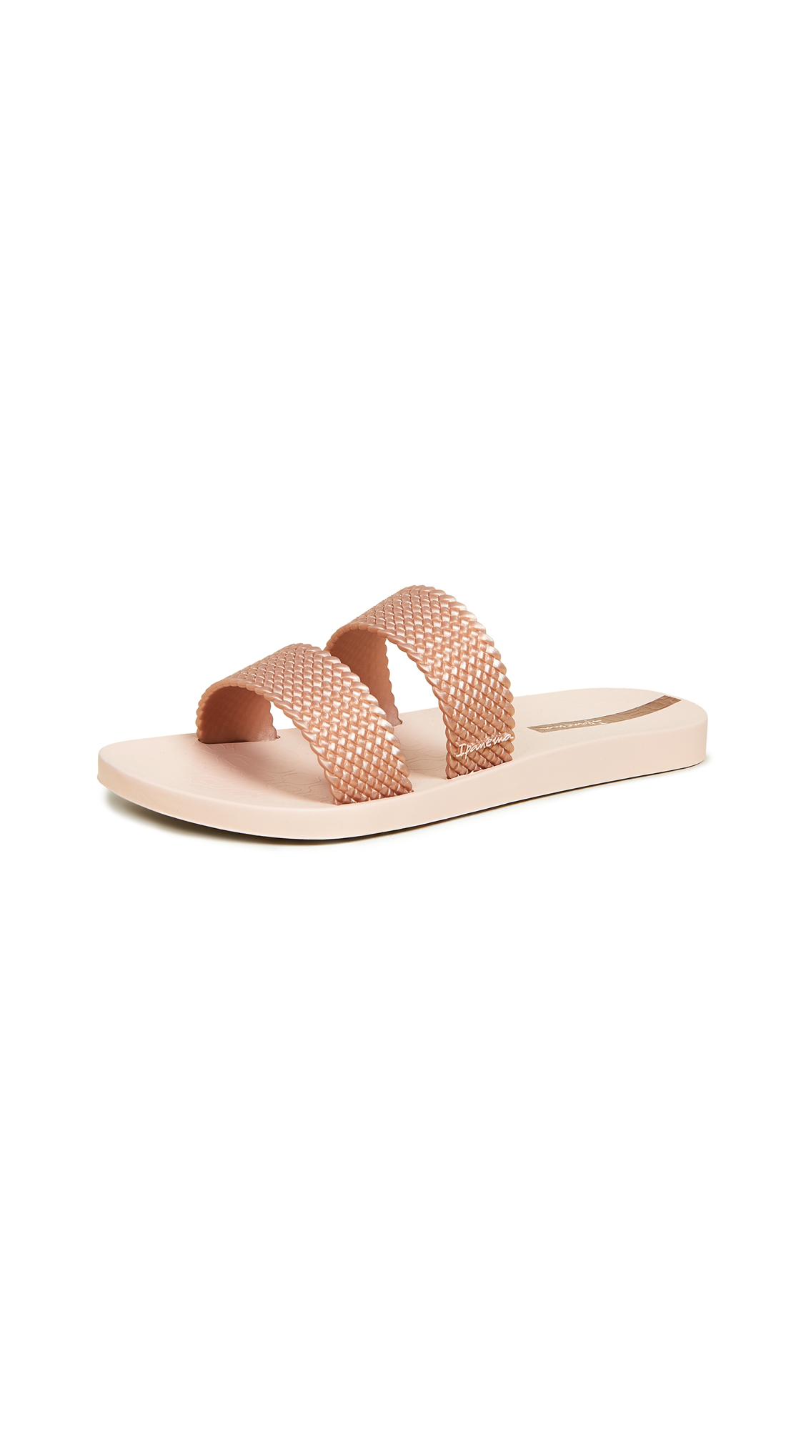 Ipanema City Double Strap Slides - Pink/Pink