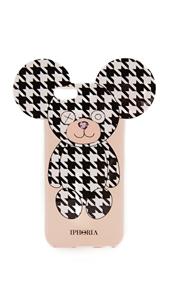 Iphoria Retro Teddy iPhone 6 / 6s Case In Black/White