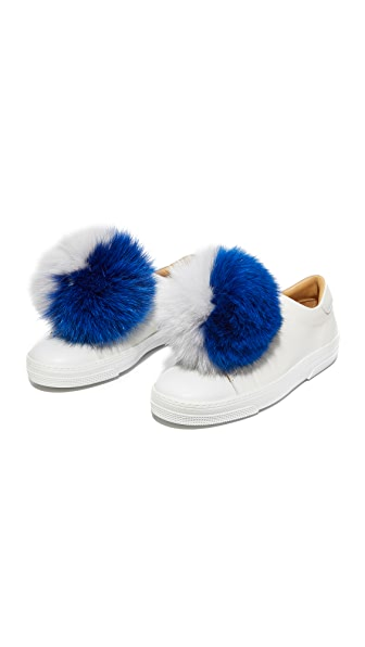 Iphoria Fox Fur Sneaker Charm Set