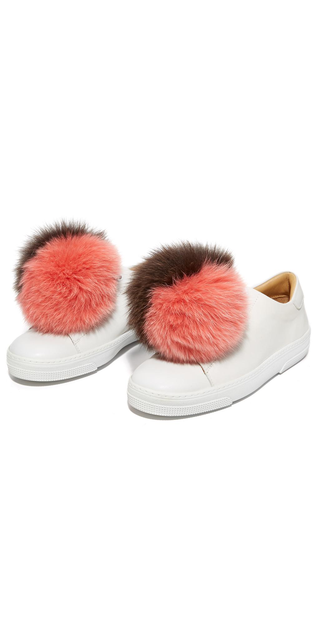 Fox Fur Sneaker Charm Set Iphoria