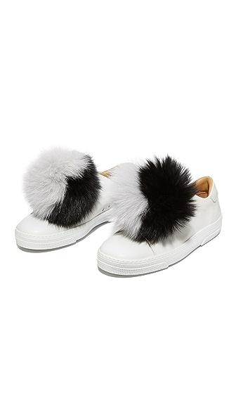 Iphoria Fox Fur Sneaker Charm Set at Shopbop