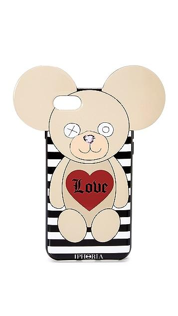 Iphoria Teddy Love Stripes iPhone 7 Case