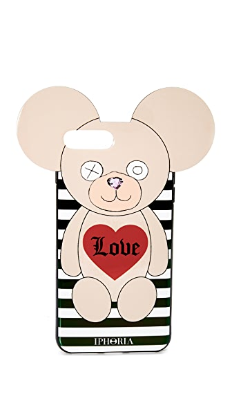 Iphoria Teddy Love Stripes iPhone 7 Plus Case In Multi