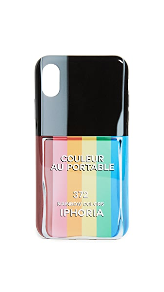 Iphoria Nail Polish Rainbow iPhone X Case In Multi
