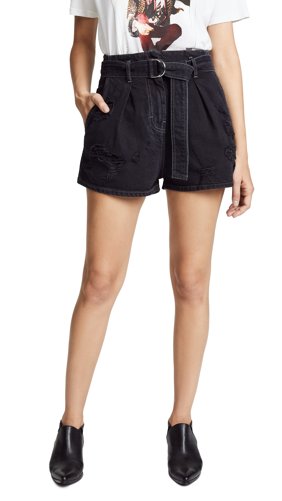 IRO.JEANS Iro. Jeans Rosa Shorts in Black Washed Grey