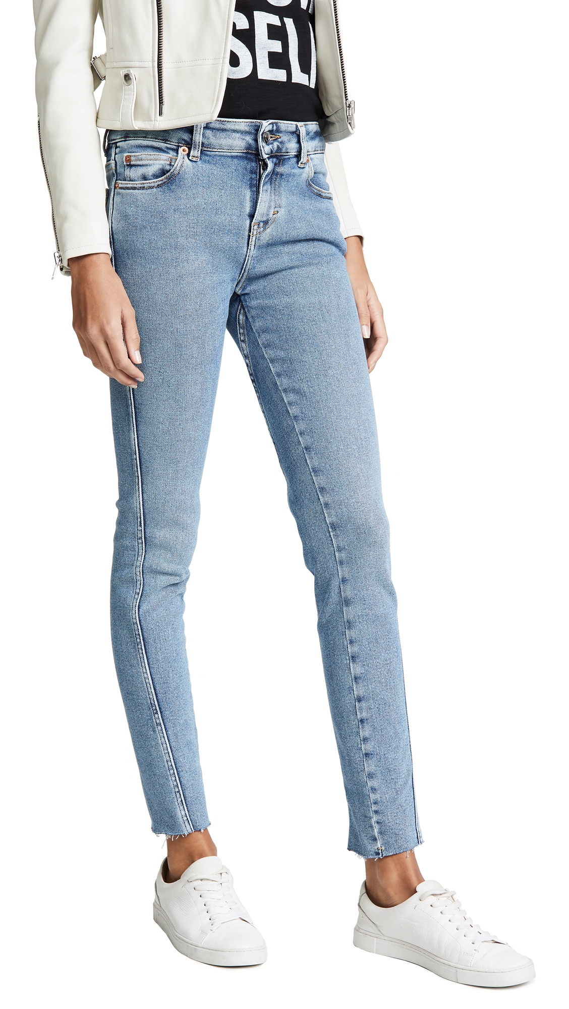 IRO.JEANS Iro. Jeans Fragile Seamed Skinny Jeans in Light Denim