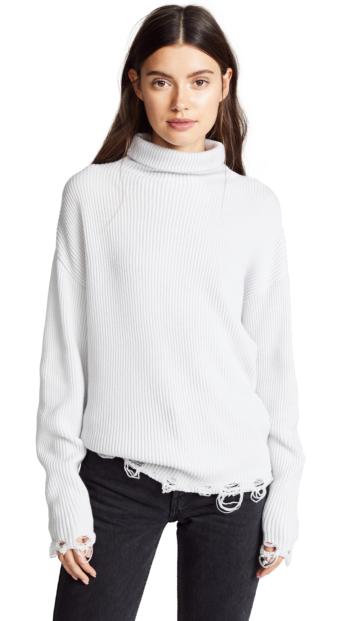 IRO.JEANS Iro. Jeans Wep Turtleneck Sweater in Cloudy White