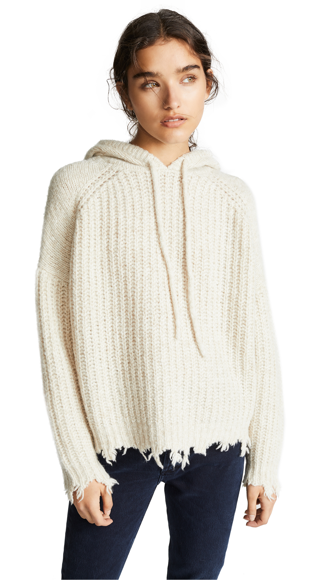 IRO.JEANS Iro. Jeans Mildred Hooded Chunky Knit in Sand