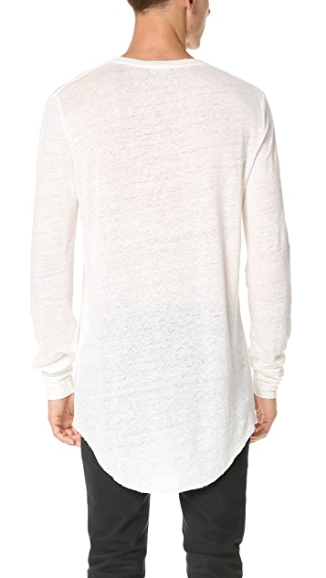 IRO Odon Long Sleeve Linen Tee