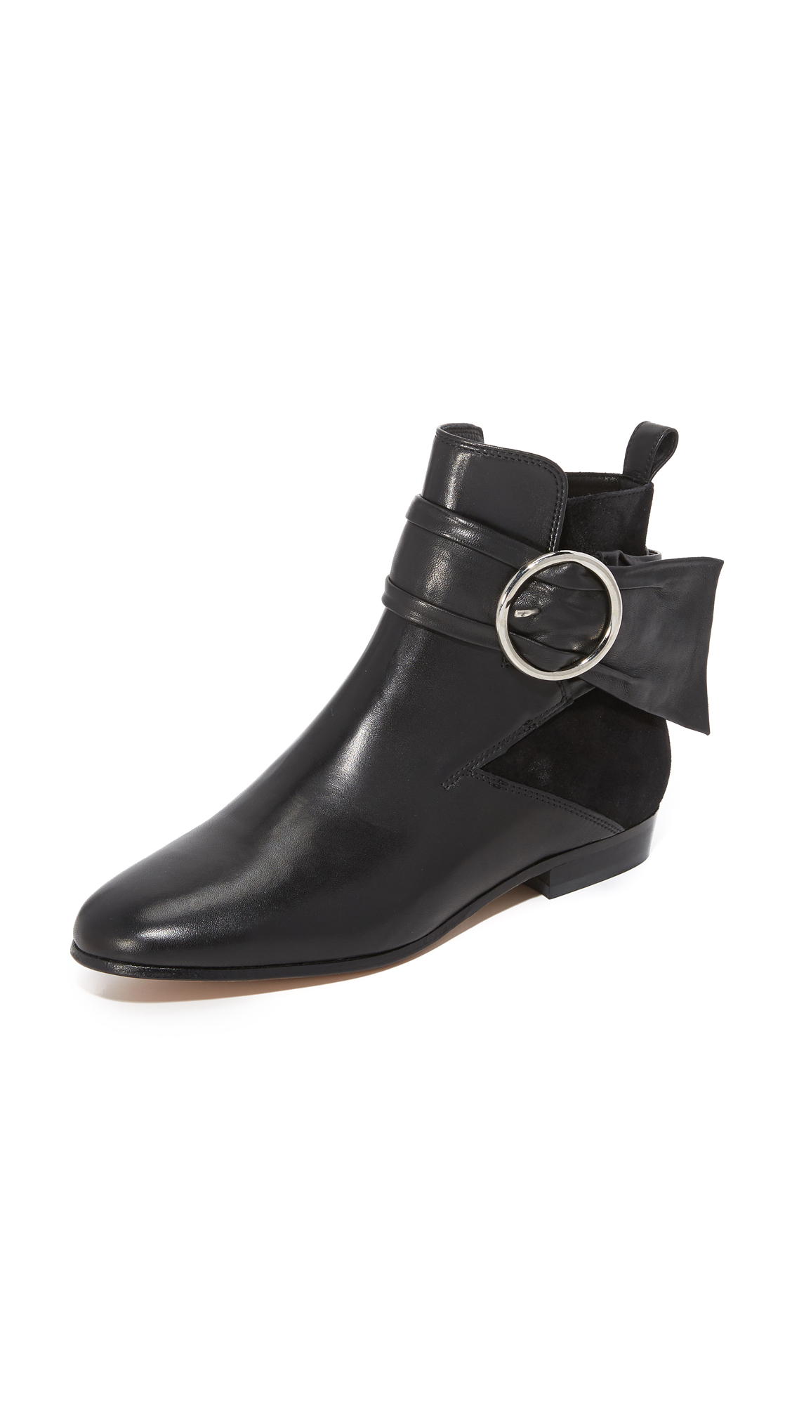 Iro Omel Ankle Buckle Booties - Black